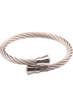 La Pescara Gümüş Paslanmaz Çelik Bileklik Blk1342