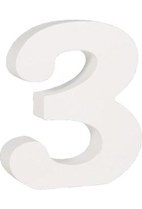 Rayher MDF Rakam Beyaz 11cm - 3