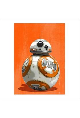Tablomega Ahşap Tablo Star Wars BB 8