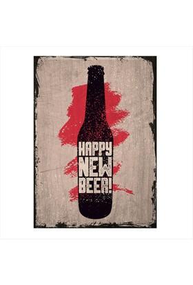 Tablomega Ahşap Tablo Retro Yeni Bira