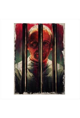 Tablomega Ahşap Tablo Kuzuların Sessizliği Hannibal Lecter