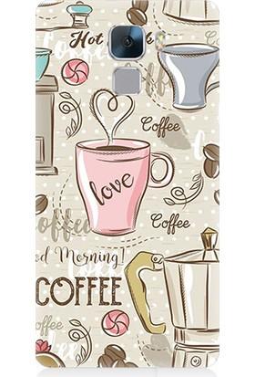 Teknomeg Huawei Honor 7 Love Coffee Desenli Silikon Kılıf