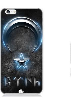 Teknomeg Apple iPhone 6 Plus Bayrak Ve Göktürkçe Türk Desenli Silikon Kılıf