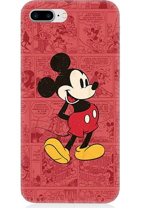 Teknomeg Apple iPhone 8 Plus Mickey Mouse Desenli Silikon Kılıf