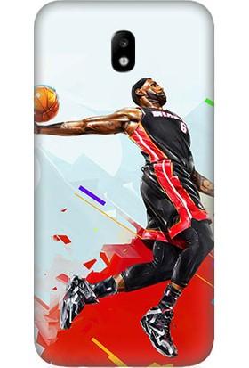 Teknomeg Samsung Galaxy J7 Pro Nba Basketbol Desenli Silikon Kılıf
