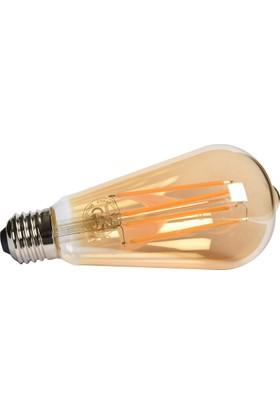 Maxima ST64 LED 4W Uzun Filament 2700K Amber Ampul
