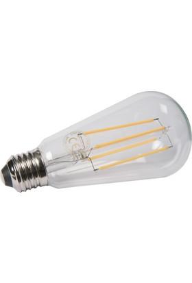 Maxima ST64 LED 8W Uzun Filament 2700K Şeffaf Ampul