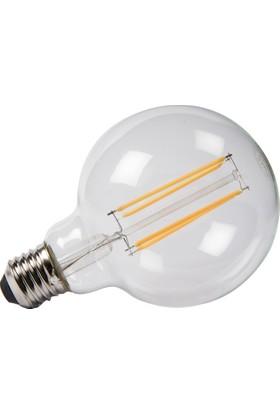 Maxima G95 LED 6W Uzun Filament 2700K Şeffaf Ampul