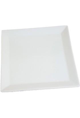 Mien Pembe Beyaz Servis Tabağı 22x22cm Ebatlarında 1.Kalite Seramik