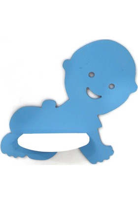 Nerox Dekoratif Ahşap Bebek Duvar Rafı Beyaz - Pembe Açık Mavi
