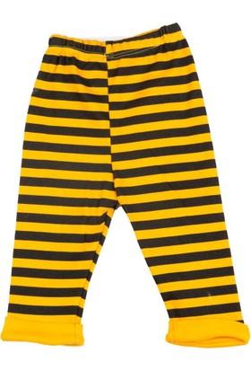 Donino Baby Arı Baskılı Kısa Kol Şapkalı 3'lü Bebek Takım