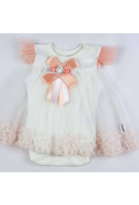 Donino Baby Dantelli Taytlı İkili Bebek Elbise Takım