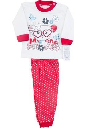 Kardelya Gözlüklü Köpek Baskılı Bebek Pijama Takımı