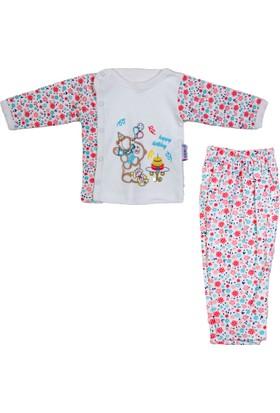 Kardelya Balonlu Ayı Baskılı Bebek Pijama Takımı