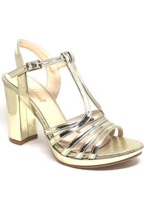 Shop And Shoes 027-18096 Bayan Ayakkabı Altın