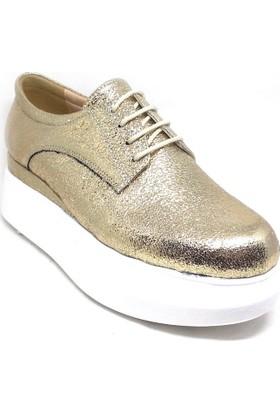 Shop And Shoes 031-8002 Bayan Ayakkabı Altın