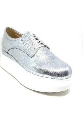 Shop And Shoes 031-8002 Bayan Ayakkabı Gümüş