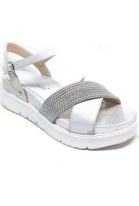 Shop And Shoes 039-311 Bayan Sandalet Gümüş