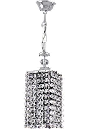 Sedef 6430-1P Çok Özel Kristal Tekli Sarkıt - Krom