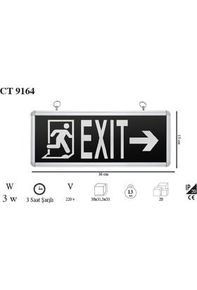 Odalight Exit Ledli Yeşil Sağa Sola Çıkış Tabelası