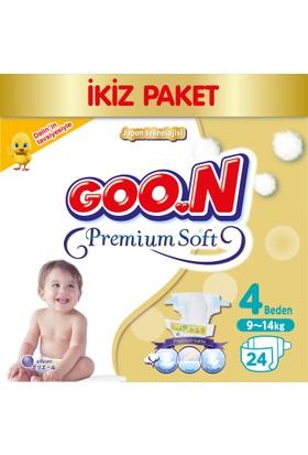 Goon Bebek Bezi Premium Soft 4 Beden Ekonomik Paket 24 Adet