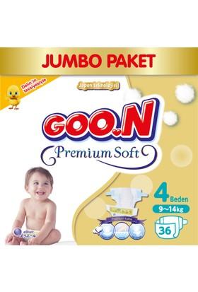 Goon Bebek Bezi Premium Soft 4 Beden Jumbo Paket 36 Adet
