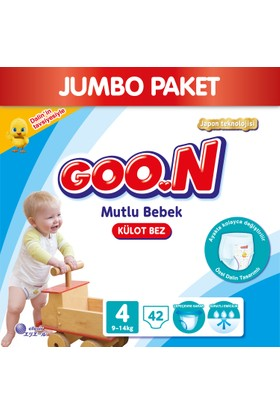 Goon Pants Külot Bebek Bezi Mutlu Bebek 4 Beden Jumbo Paket 42 Adet