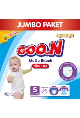 Goon Pants Külot Bebek Bezi Mutlu Bebek 5 Beden Jumbo Paket 34 Adet