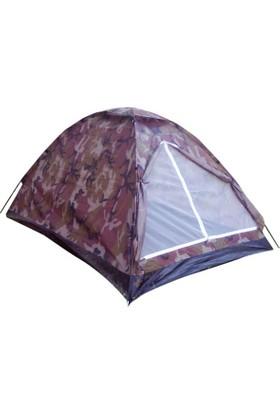 Gringo Kamuflaj Ortadan Fermuarlı 3 Kişilik Kamp Çadırı 200x150x110 cm