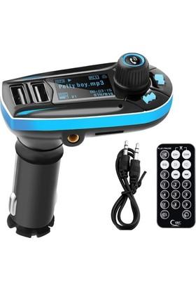Gringo 618 Yeni Sürüm Bluetooth Araç Kiti Kumandalı FM Transmitter + Araç Kokusu