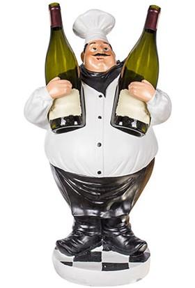 Piyop Dekoratif Şaraplık Şef 32 x 24 x 60 Cm