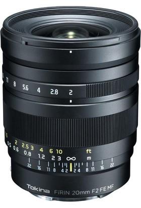 Tokina Firın 20mm F/2 FE MF Lens Sony Uyumlu