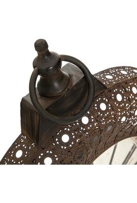 Vitale Cool Kahve Telkari Oval Duvar Saati