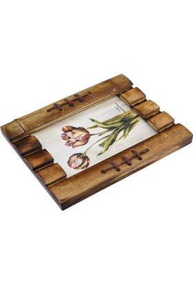 Vitale Dikişli Bambu Fotoğraf Çerçevesi Küçük Boy