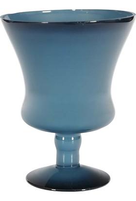 Vitale Mihir Mavi Dekoratif Lale Vazo Küçük Boy