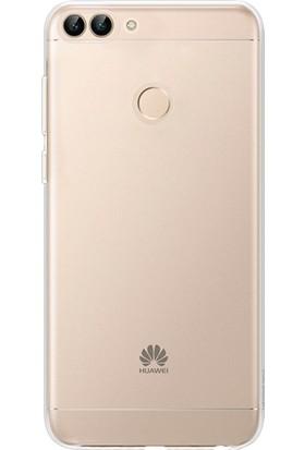 Microsonic Huawei P Smart Kılıf Transparent Soft Beyaz