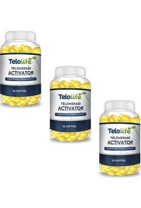 Telolife Bandrollü Firmasından Orjinal Ürün Telolife Telomer Softgel 3 Aylık Kullanım