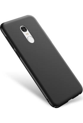 Case 4U Xiaomi Redmi Note 4X Kılıf Düz Sert Arka Kapak Rubber Siyah