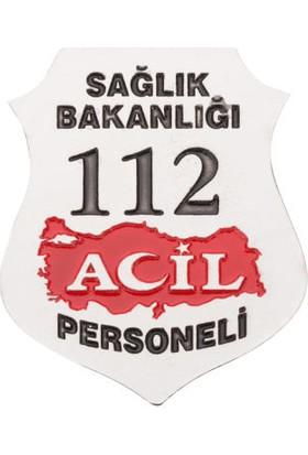 Anı Yüzük Sağlık Bakanlığı 112 Acil Kemer Rozeti