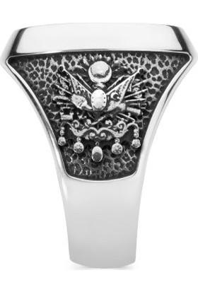 Anı Yüzük Teşkilât-I Mahsusa Yüzüğü (Osmanlı Arması-Tuğrası)