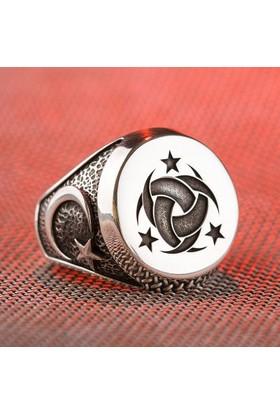 Anı Yüzük Teşkilât-I Mahsusa Yüzüğü (Ay Yıldız- Göktürkçe Türk)
