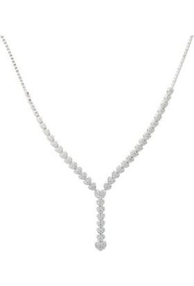 Anı Yüzük Gümüş Kalp Modelli Kadın Takı Seti
