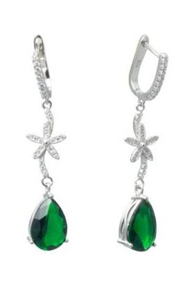 Anı Yüzük Gümüş Yeşil Zirkon Taşlı Sonsuzluk Set