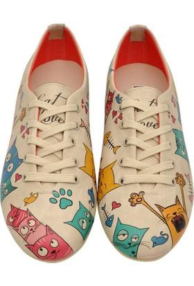 Dogo Oxford Cat Lovers Kadın Ayakkabı