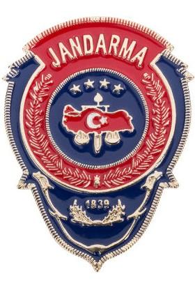 Anı Yüzük Kırmızı Mavi Mineli Jandarma Rozeti