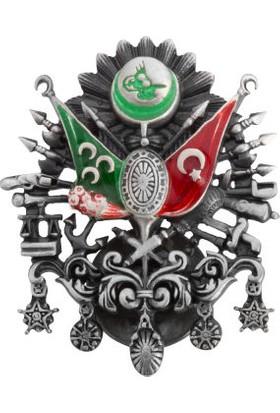 Anı Yüzük Osmanlı Devleti Arması Motifli Yaka Rozeti