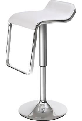 Sandalye Keyfi Beyaz Jil Bar Taburesi