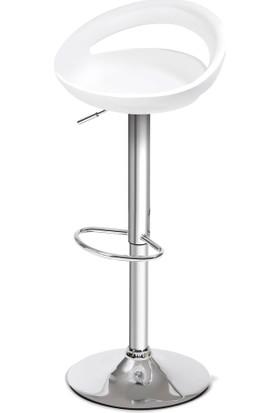 Sandalye Keyfi Optimum Bar Taburesi Beyaz