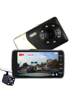 Novatek 4 inç IPS Ekran NT89D 8 LED Türkçe Gece Görüşlü Araç Kamerası