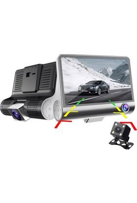 Allwinner 4inç AW66+16GB Üç Yön Geri Vites FullHD Taksi Minübüs Kamera
